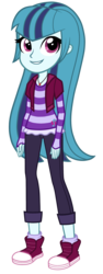 Size: 1080x2880 | Tagged: safe, artist:thecheeseburger, sonata dusk, equestria girls, clothes, converse, female, long hair, loose hair, shoes, simple background, sneakers, solo, transparent background, vector, younger