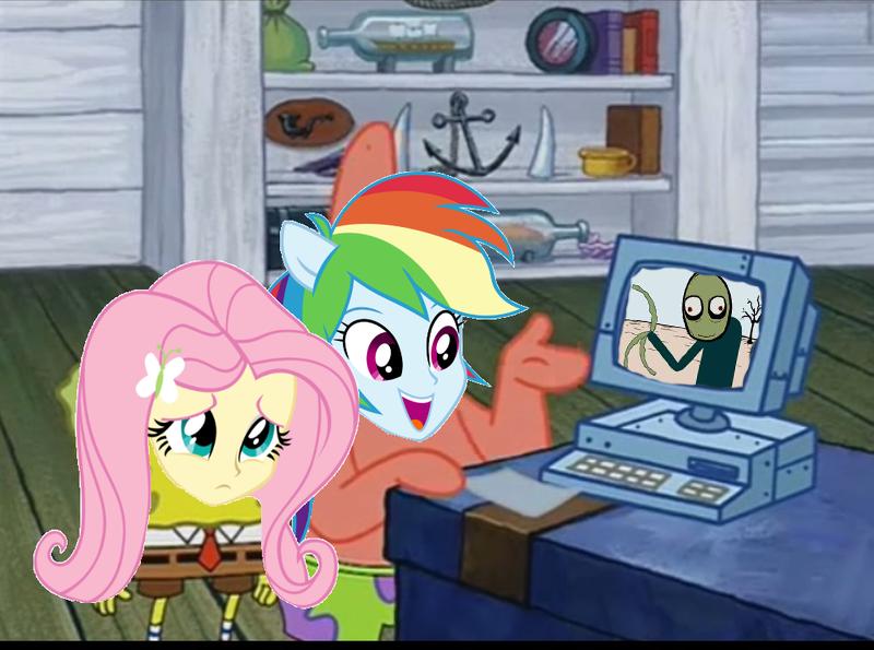 full 1135348 edit, edited screencap, equestria girls, fluttershy, meme