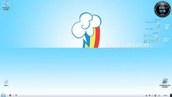 Size: 1366x768 | Tagged: safe, artist:bluedragonhans, rainbow dash, cutie mark, desktop, solo, windows, windows 7