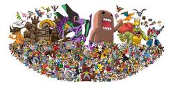Size: 2048x1024 | Tagged: safe, applejack, derpy hooves, discord, fluttershy, gummy, pinkie pie, rainbow dash, rarity, spike, twilight sparkle, bison, butterfree, charizard, diglett, dragonair, geodude, golbat, jigglypuff, lucario, magikarp, mew, mewtwo, oddish, pegasus, pikachu, poliwag, pony, ponyta, shy guy, slowpoke (pokémon), adventure time, aladdin, animal crossing, animaniacs, ash ketchum, avatar the last airbender, awesome face, banjo kazooie, barely pony related, batman the animated series, bender bending rodriguez, bionicle, boo, bowser, bugs bunny, cartoon network, catdog, courage the cowardly dog, crash bandicoot, crash bandicoot (character), crossover, danny phantom, dexter's laboratory, digimon, disney, doctor eggman, donkey kong, donkey kong country, dragon ball, ed edd n eddy, error, family guy, female, forever alone, fullmetal alchemist, ganon, gir, glitch, goku, happy tree friends, hatsune miku, heavy weapons guy, hercules, invader zim, jenny wakeman, kingdom hearts, kirby, kirby (character), lego, looney tunes, luigi, mane seven, mane six, mare, mario, megaman, meme, metroid, michelangelo, mickey mouse, minecraft, monopoly, mulan, my life as a teenage robot, naruto, neon genesis evangelion, nickelodeon, nyan cat, optimus prime, pac-man, paper mario, peanuts, peter griffin, pixar, pokémon, portal (valve), power-up, princess peach, rage face, ren and stimpy, rocko's modern life, samus aran, simple background, slowpoke, solid snake, sonic the hedgehog, sonic the hedgehog (series), sora, space core, spongebob squarepants, spyro the dragon, star fox, street fighter, super mario bros., superman, team fortress 2, team rocket, teenage mutant ninja turtles, the fairly oddparents, the grim adventures of billy and mandy, the legend of zelda, the legend of zelda: the wind waker, the lion king, the nightmare before christmas, transformers, trollface, tron, uncle pennybags, vegeta, vocaloid, wall of tags