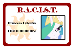 Size: 270x178 | Tagged: acronym, card, clickbait, fanfic art, fun with acronyms, it makes sense in context, misleading thumbnail, princess celestia, read the description, safe