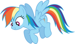 Size: 6000x3541 | Tagged: safe, artist:dashiesparkle, artist:hawk9mm, rainbow dash, castle sweet castle, .svg available, female, floating, ponyscape, simple background, smiling, solo, transparent background, vector