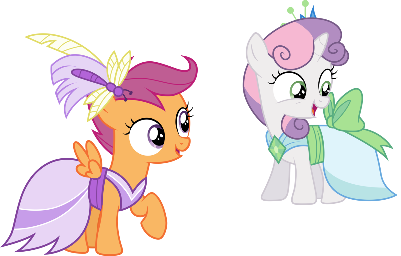 1137307 Absurd Res Artist Cloudyglow Clothes Dress Gala Dress Make New Friends But Keep Discord Open Mouth Safe Scootaloo Simple Background Sweetie Belle Transparent Background Vector Derpibooru One of the most popular girls games available, can the words associated with this game are dress up, pets, animals, pony, scootaloo, dresses, outfit, style. absurd res artist cloudyglow clothes
