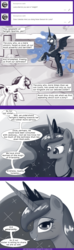 Size: 567x1920 | Tagged: safe, artist:deusexequus, nightmare moon, princess celestia, princess luna, twilight sparkle, alicorn, pony, ask the princess of friendship with benefits, butt, comic, dialogue, female, lesbian, mare, plot, polyamory, shipping, speech bubble, twilight sparkle (alicorn), twilunestia