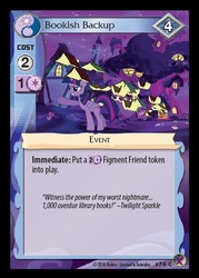 Size: 409x570   Tagged: safe, twilight sparkle, alicorn, pony, book, card, ccg, enterplay, female, mare, marks in time, merchandise, quote, solo, twilight sparkle (alicorn)