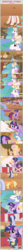 Size: 1475x16375   Tagged: safe, artist:estories, applejack, fluttershy, pinkie pie, princess celestia, rainbow dash, twilight sparkle, oc, oc:obsidian, oc:silverlay, original species, umbra pony, unicorn, comic:seeds of darkness, absurd resolution, comic, possessed, unicorn twilight