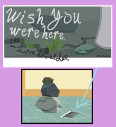 Size: 2460x2698 | Tagged: safe, artist:oneovertwo, boulder (pet), rocky, the gift of the maud pie, postcard