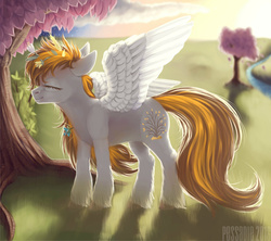 Size: 1024x910 | Tagged: safe, artist:pessadie, oc, oc only, oc:golden rain, pegasus, pony, solo