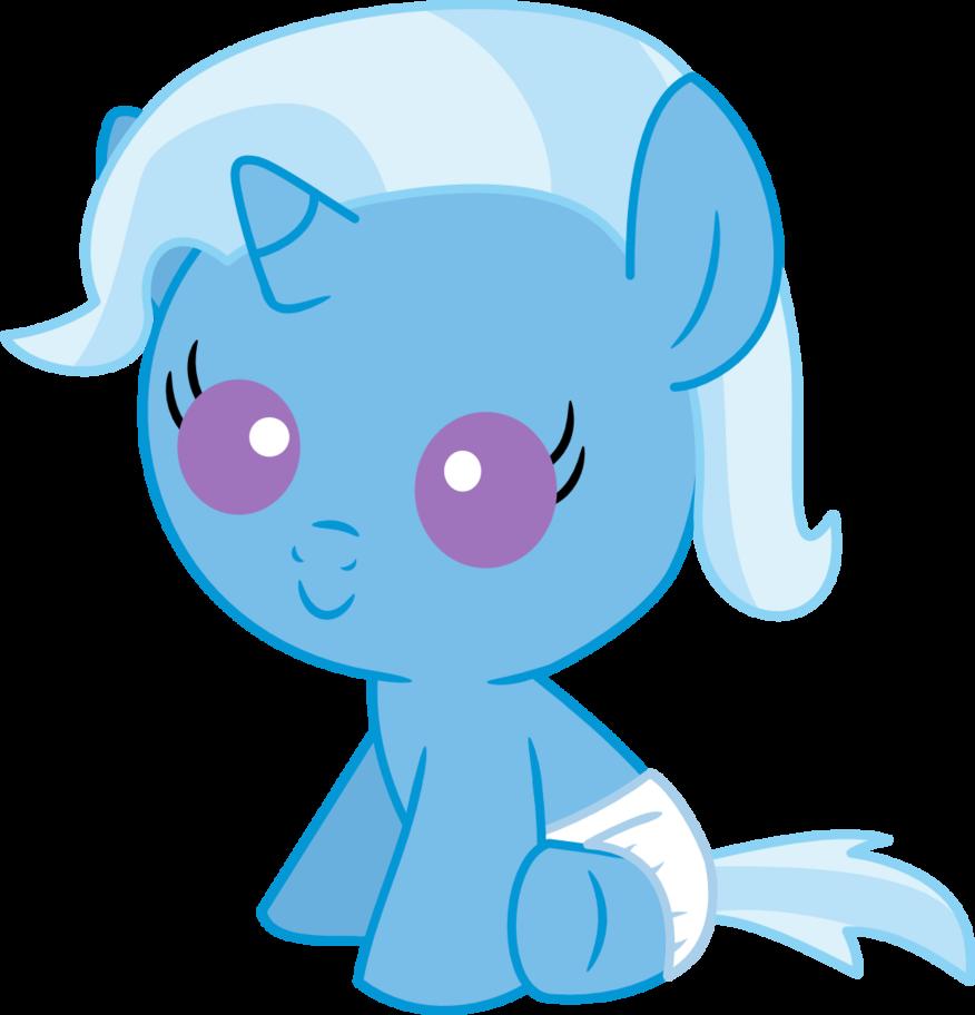 Trixie Baby 1126934 - artist:mighty355, baby, baby pony, baby trixie, cute