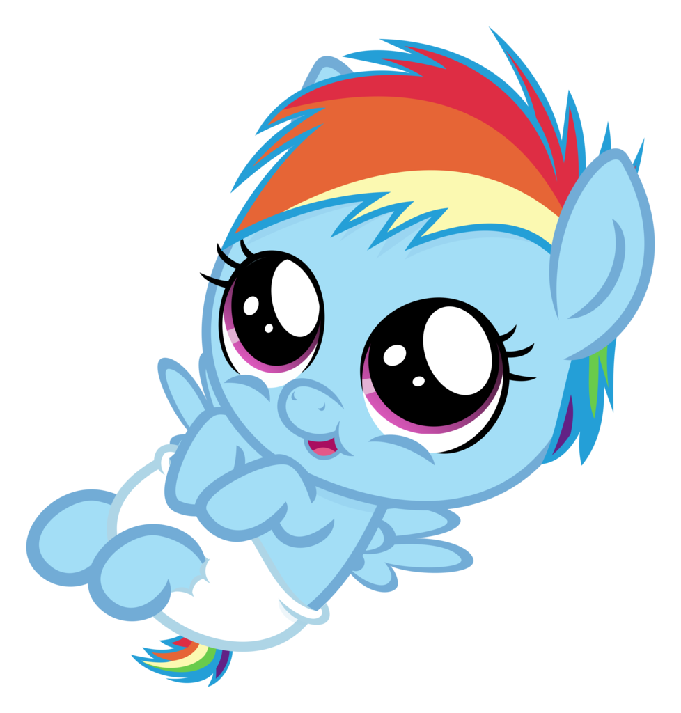 Gallery For gt Mlp Rainbow Dash Cute Baby