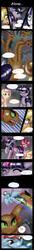 Size: 864x6355 | Tagged: safe, artist:aquariasc, applejack, fluttershy, pinkie pie, rainbow dash, rarity, twilight sparkle, hydra, pony, comic:alone, the mysterious mare do well, absurd resolution, comic, mane six, multiple heads, rain