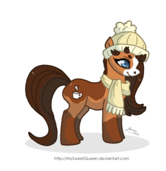 Size: 1384x1432 | Tagged: artist:mysweetqueen, clothes, hat, oc, oc only, safe, scarf, simple background, solo, transparent background
