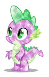 Size: 2304x3617   Tagged: safe, artist:infinitewarlock, spike, crystal pony, pony, crystallized, male, simple background, solo, transparent background, vector
