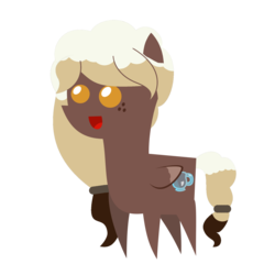 Size: 2000x2000   Tagged: safe, artist:besttubahorse, oc, oc only, oc:sweet mocha, pegasus, pony, pointy ponies, solo, trace