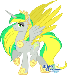 Size: 1813x2038   Tagged: safe, artist:xwhitedreamsx, oc, oc only, oc:natural disaster, alicorn, pony, female, looking at you, princess, regalia, simple background, solo, transparent background