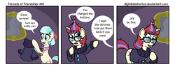 Size: 1200x474 | Tagged: safe, artist:digitaldasherbot, coco pommel, moondancer, comic:threads of friendship, comic