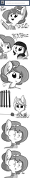 Size: 693x4158 | Tagged: safe, artist:tjpones, oc, oc only, oc:brownie bun, oc:bruno, oc:prisoner cuteface, horse wife, :|, absurd resolution, apple, ask, c:, clothes, comic, crayon, crayons, cute, cute pony prison, dialogue, eye contact, floppy ears, fluffy, food, frown, juice, juice box, looking at each other, monochrome, ocbetes, open mouth, prison, prison outfit, prisoner, smiling, tjpones is trying to murder us, tumblr, wide eyes