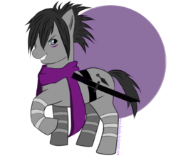 Size: 631x580 | Tagged: safe, artist:leeaka, one punch man, ponified, solo, speed of sound sonic