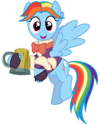 Size: 2400x3000 | Tagged: safe, artist:cheezedoodle96, rainbow dash, snowdash, pony, a hearth's warming tail, .svg available, cider, clothes, female, happy, looking at you, mare, mug, open mouth, simple background, smiling, solo, svg, transparent background, vector