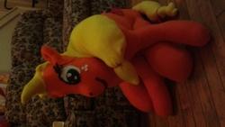 Size: 2048x1152 | Tagged: safe, artist:ponylover88, applejack, irl, photo, plushie, sideways image