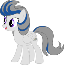 Size: 5031x5086 | Tagged: 2017 community collab, absurd res, artist:gingerscribbs, derpibooru community collaboration, female, inkscape, oc, oc only, oc:overcast, pegasus, pony, ponyscape, safe, simple background, solo, transparent background, updated, vector