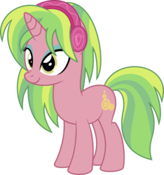 Size: 838x894 | Tagged: artist:gingerscribbs, crystal prep academy, crystal prep shadowbolts, cute, equestria girls, equestria girls ponified, female, friendship games, headphones, lemon zest, ponified, pony, safe, simple background, smiling, solo, transparent background, unicorn, updated, vector, zestabetes