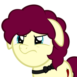 Size: 2000x2000   Tagged: safe, artist:besttubahorse, oc, oc only, oc:chimie changa, earth pony, pony, angry, female, floppy ears, grumpy, mare, simple background, solo, transparent background, vector