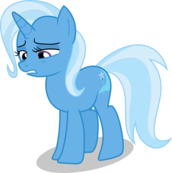 Size: 5054x5087 | Tagged: absurd res, artist:shutterflyeqd, female, mare, no second prances, photoshop, pony, sad, safe, simple background, solo, transparent background, trixie, unicorn, vector
