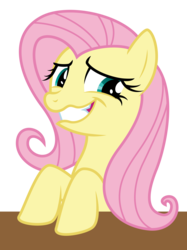 Size: 3500x4688 | Tagged: safe, artist:masem, fluttershy, the saddle row review, .ai available, absurd resolution, cute, faic, female, simple background, solo, table, transparent background, vector