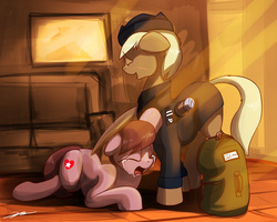 Size: 2000x1600 | Tagged: amputee, artist:gasmaskfox, crying, military, military pony, military uniform, oc, oc only, pegasus, pony, safe, war