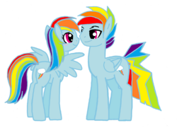 Size: 1665x1203 | Tagged: artist:jaquelindreamz, dashblitz, female, male, rainbow blitz, rainbow dash, rule 63, safe, selfcest, self ponidox, shipping, simple background, straight, transparent background