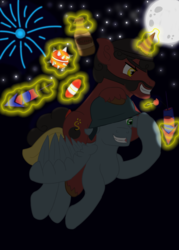 Size: 1024x1427 | Tagged: safe, artist:mediponee, crossover, demoman, ponified, soldier, team fortress 2