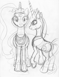 Size: 900x1170 | Tagged: safe, artist:ciaran, derpibooru exclusive, princess luna, monochrome, simple background, sketch