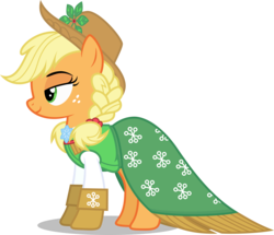 Size: 6450x5550 | Tagged: safe, artist:cencerberon, applejack, spirit of hearth's warming past, a hearth's warming tail, .svg available, absurd resolution, colored, female, show accurate, simple background, solo, transparent background, vector