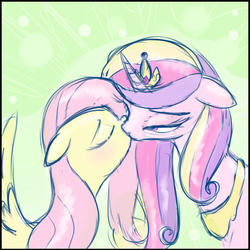 Size: 600x600 | Tagged: adultery, alicorn, artist:hudoyjnik, cadanshy, crack shipping, cute, eyes closed, female, floppy ears, flutterdance, fluttershy, infidelity, kissing, lesbian, lineart, pegasus, pony, princess cadance, raised eyebrow, safe, shipping, wingboner
