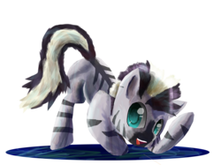 Size: 4842x3628 | Tagged: safe, artist:owlvortex, zecora, zebra, absurd resolution, cute, foal, lineless, simple background, solo, transparent background, younger, zecorable