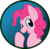Size: 904x884 | Tagged: safe, artist:koonzypony, pinkie pie, button, pin, solo