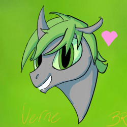 Size: 2880x2880 | Tagged: safe, artist:icarys, oc, oc only, oc:verne, changeling, dark mirror universe, drawn on phone, male, solo