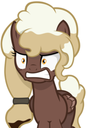 Size: 2000x2933   Tagged: safe, artist:besttubahorse, oc, oc only, oc:sweet mocha, pegasus, pony, angry, solo