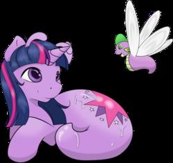 Size: 1541x1453 | Tagged: safe, artist:camychan, artist:thevioletyoshi, edit, spike, twilight sparkle, original species, ponyslug, species swap