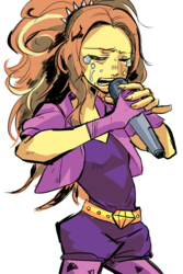 Size: 666x1000 | Tagged: adagio dazzle, artist:akomaru, crying, equestria girls, microphone, safe, singing, solo