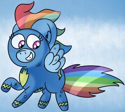 Size: 724x652 | Tagged: dead source, safe, artist:pastelhorses, rainbow dash, newbie dash, cloud, cute, female, solo, wonderbolts, wonderbolts uniform
