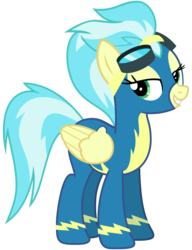 Size: 2000x2600 | Tagged: safe, artist:cheezedoodle96, misty fly, pony, newbie dash, .svg available, bedroom eyes, female, looking at you, mare, simple background, smiling, solo, svg, transparent background, vector, wonderbolts, wonderbolts uniform