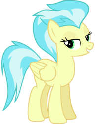 Size: 2000x2600 | Tagged: safe, artist:cheezedoodle96, derpibooru exclusive, misty fly, pony, newbie dash, .svg available, bedroom eyes, female, looking at you, mare, simple background, solo, svg, transparent background, vector, wonderbolts