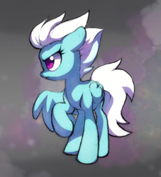 Size: 1280x1408   Tagged: safe, artist:dawnfire, fleetfoot, pegasus, pony, angry, colored pupils, female, floppy ears, frown, looking at something, raised hoof, solo