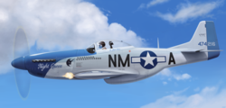 Size: 5700x2736   Tagged: safe, artist:mrscroup, night glider, absurd resolution, firing, flying, kill mark, military, nose art, p-51 mustang, plane, solo, us army air corps, war, world war ii