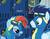 Size: 840x659 | Tagged: safe, screencap, rainbow blaze, rainbow dash, soarin', pony, newbie dash, alternate hairstyle, locker room, photo, rainbow fash, wonderbolts uniform