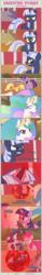 Size: 1475x9508   Tagged: safe, artist:estories, applejack, pinkie pie, princess celestia, rarity, twilight sparkle, oc, oc:obsidian, oc:silverlay, original species, umbra pony, unicorn, comic:seeds of darkness, absurd resolution, comic, possessed, unicorn twilight