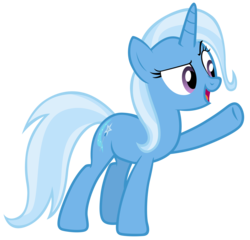 Size: 7300x7000 | Tagged: absurd res, artist:tardifice, female, mare, no second prances, open mouth, photoshop, pony, raised hoof, safe, simple background, solo, transparent background, trixie, unicorn, vector