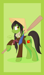 Size: 1284x2204 | Tagged: safe, artist:soulfulmirror, earth pony, pony, nation ponies, ponified, solo, vietnam